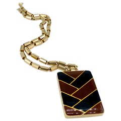 LANVIN 1970s Vintage Pendant Necklace