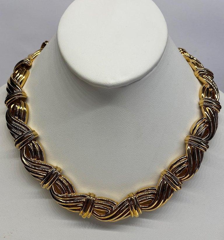 Women's Lanvin 1980s Gold Link Necklace  For Sale