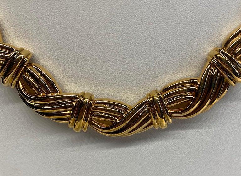 Lanvin 1980s Gold Link Necklace  For Sale 1