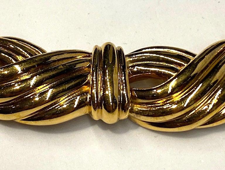 Lanvin 1980s Gold Link Necklace  For Sale 4