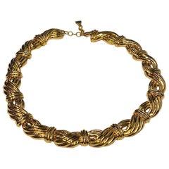 Lanvin 1980s Gold Link Necklace