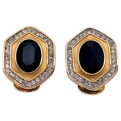 LANVIN 1980s Vintage Clip On Earrings