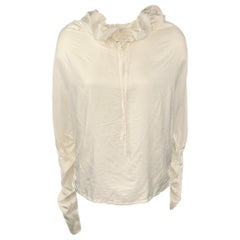 LANVIN 2007 by Alber Elbaz Size 6 White Polyester Casual Top