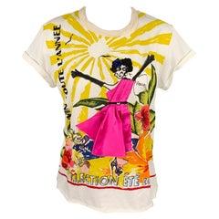 LANVIN 2009 Collection Size S Multi-Color Sequined Cotton T-Shirt
