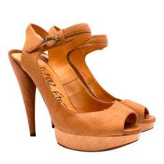 Lanvin 2012 Ete Brown Leather Sandals 38