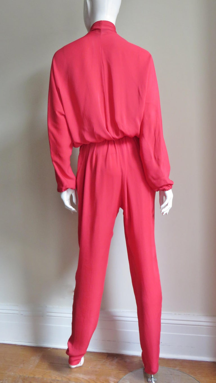 Lanvin 2014 Draped Silk Jumpsuit   For Sale 6