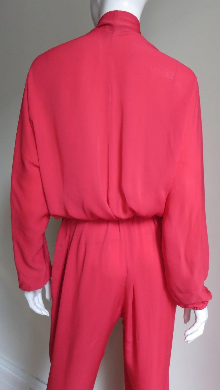 Lanvin 2014 Draped Silk Jumpsuit   For Sale 7