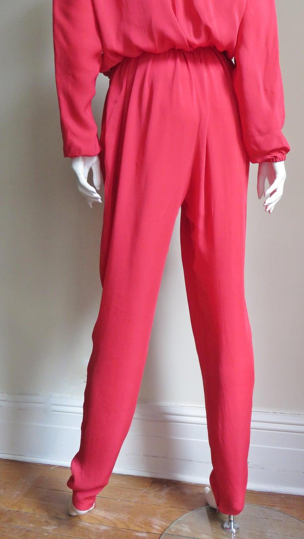Lanvin 2014 Draped Silk Jumpsuit   For Sale 8