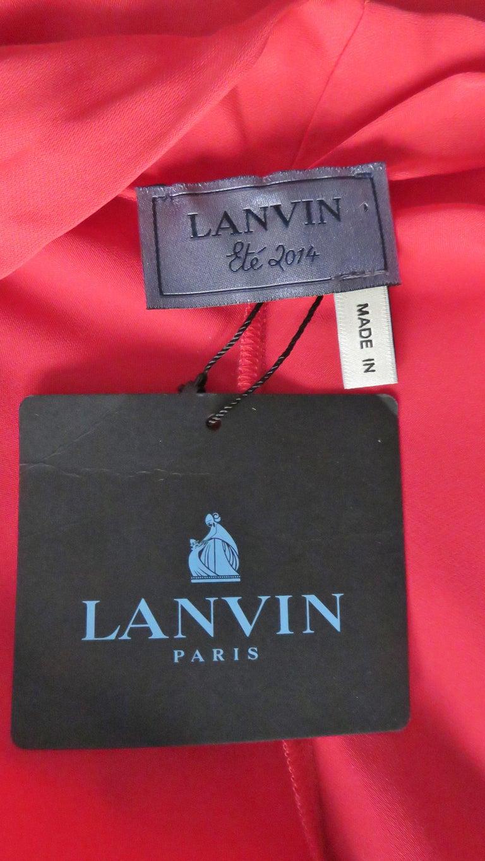 Lanvin 2014 Draped Silk Jumpsuit   For Sale 10