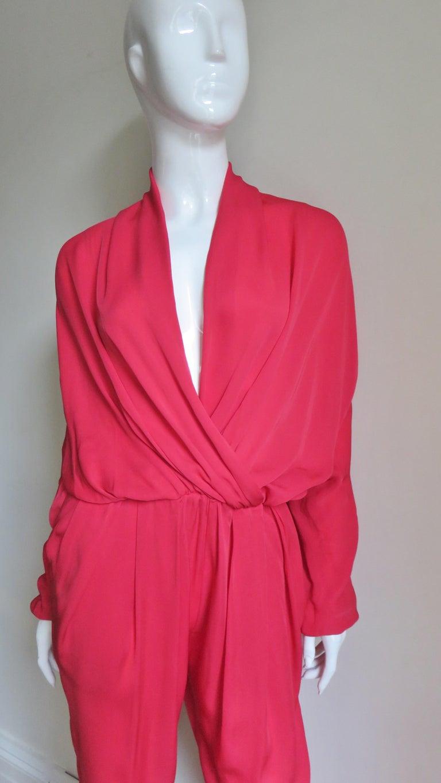 Women's Lanvin 2014 Draped Silk Jumpsuit   For Sale