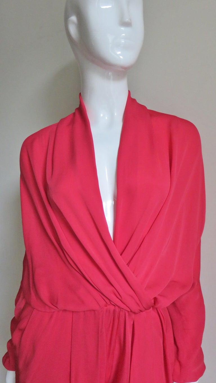Lanvin 2014 Draped Silk Jumpsuit   For Sale 1