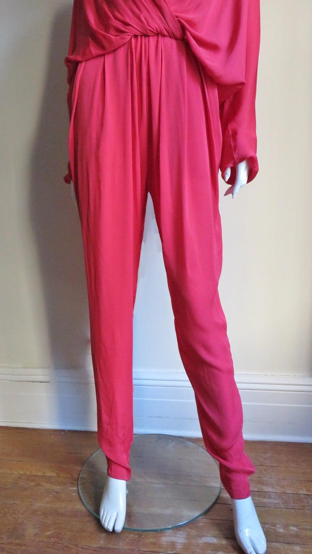 Lanvin 2014 Draped Silk Jumpsuit   For Sale 2