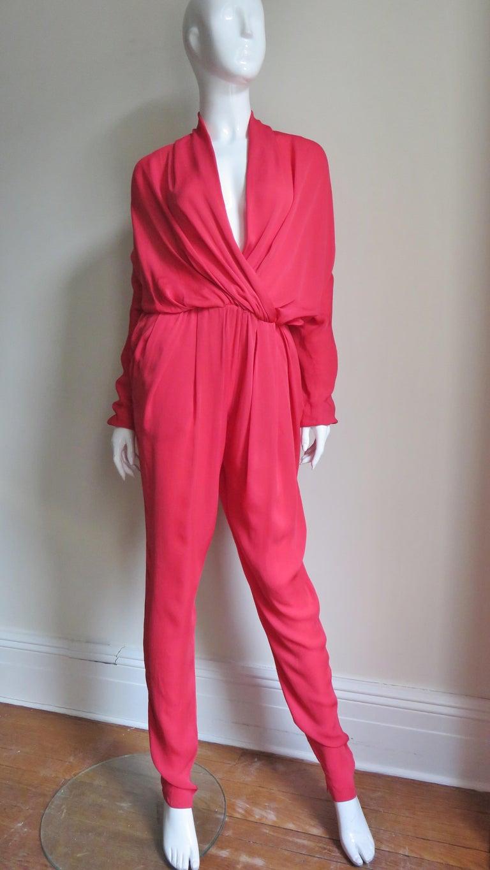 Lanvin 2014 Draped Silk Jumpsuit   For Sale 3