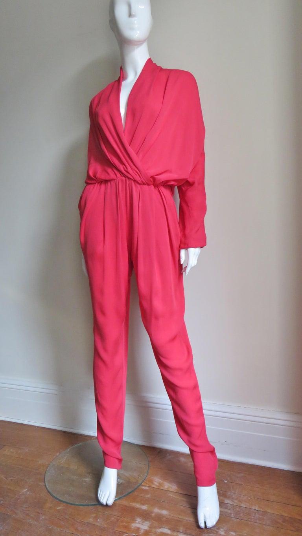 Lanvin 2014 Draped Silk Jumpsuit   For Sale 4