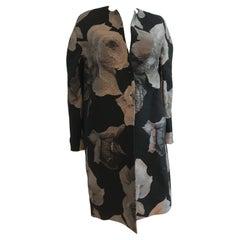 Lanvin Alber Elbaz 2011 Hiver Wool and Silk Floral Print Jacket