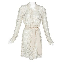 Lanvin Alber Elbaz Collection Blanche Guipure Lace Coat 2013