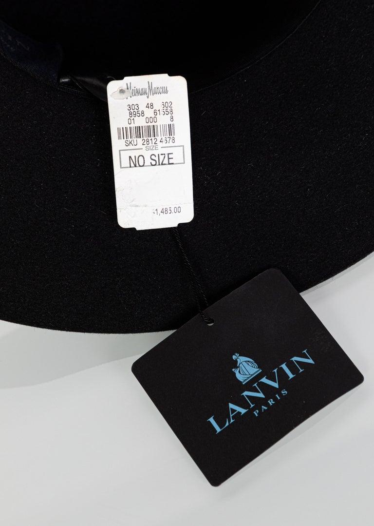 Lanvin Alber Elbaz Embellished Black Felt Hat, 2015 For Sale 6
