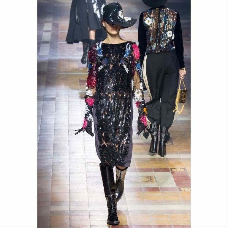 Lanvin Alber Elbaz Embellished Black Felt Hat, 2015 For Sale 8