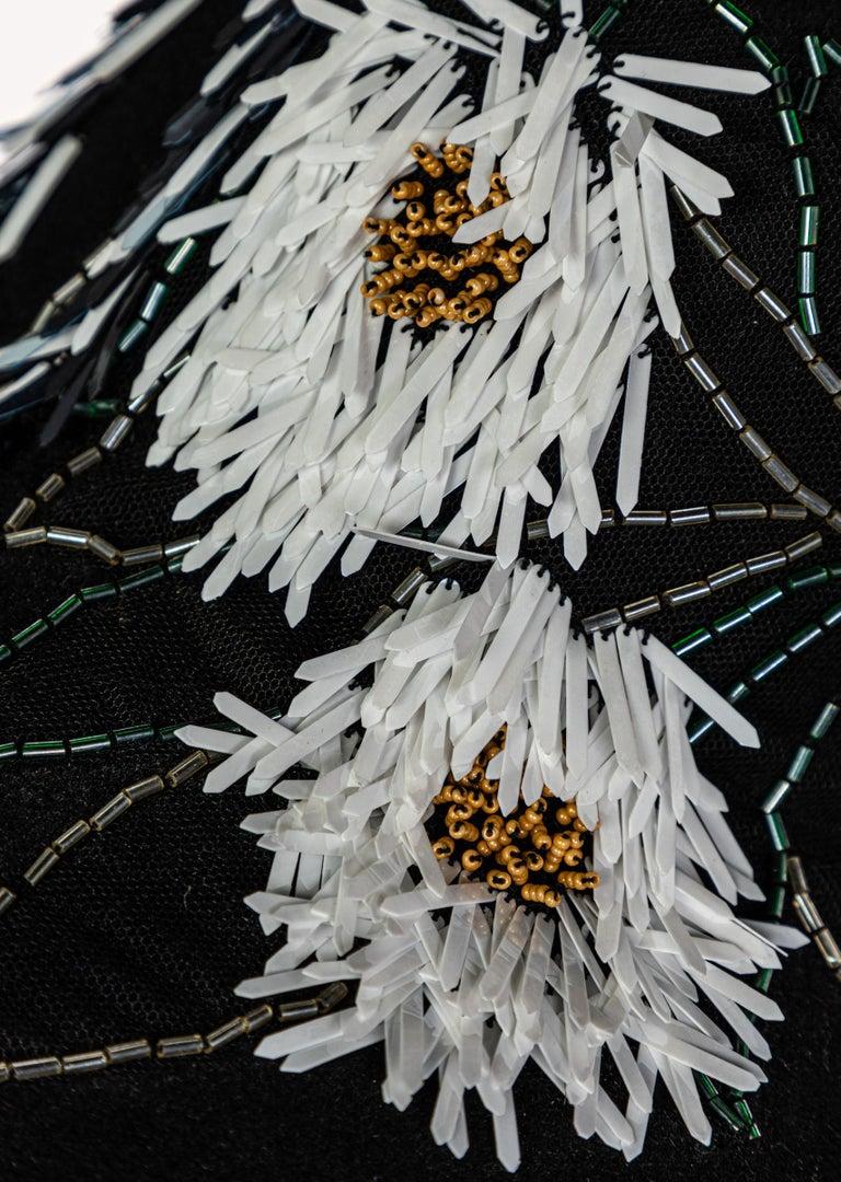 Lanvin Alber Elbaz Embellished Black Felt Hat, 2015 For Sale 5