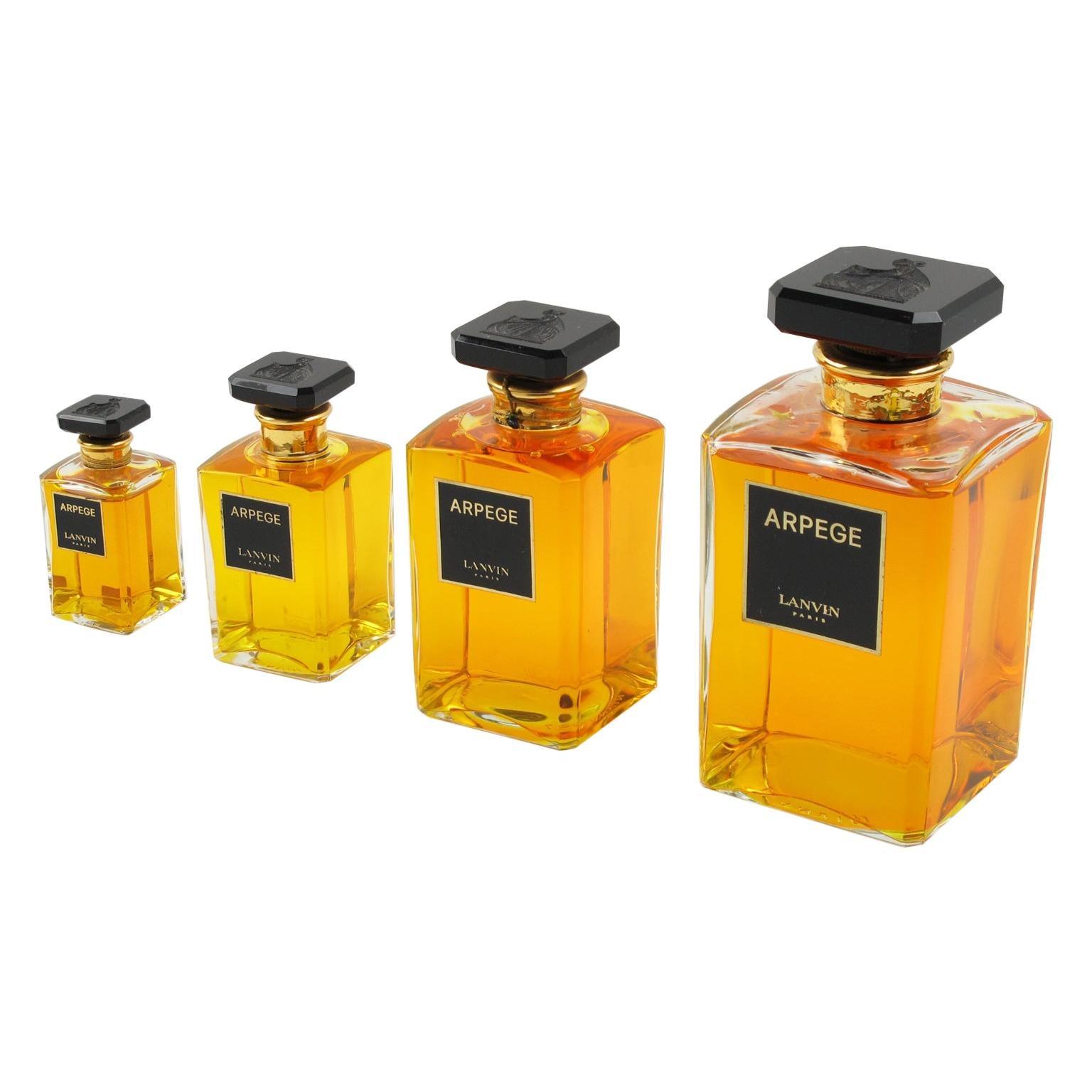Lanvin Arpege Store Display Factice Crystal Perfume Bottle, 4 pieces