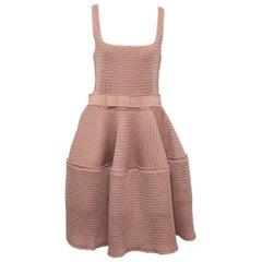 Lanvin Beige Honeycomb Dress