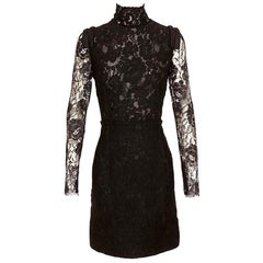Lanvin Black Lace Dress