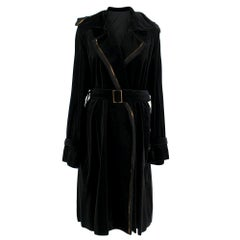 Lanvin Black Longline Wrap Coat 42 L