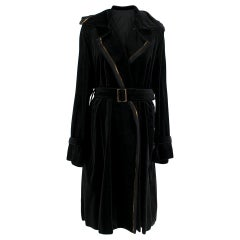 Lanvin Black Longline Wrap Coat - Size US 10