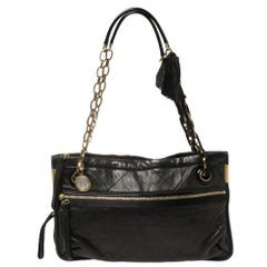 Lanvin Black Quilted Leather Amalia Shoulder Bag