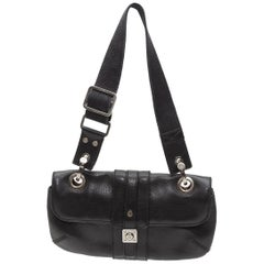 Lanvin Black Small Leather Shoulder Bag