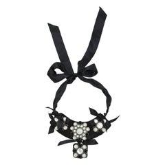 Lanvin Black & White Statement Necklace