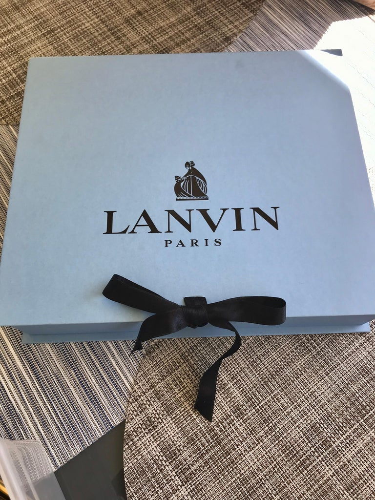 Women's or Men's LANVIN Brass Bib Necklace For Sale