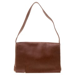 Lanvin Brown Leather Shoulder Bag