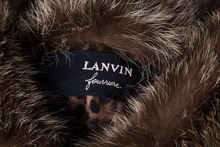 Women's LANVIN  Brown & Multicolor Patchwork Fur Coat For Sale