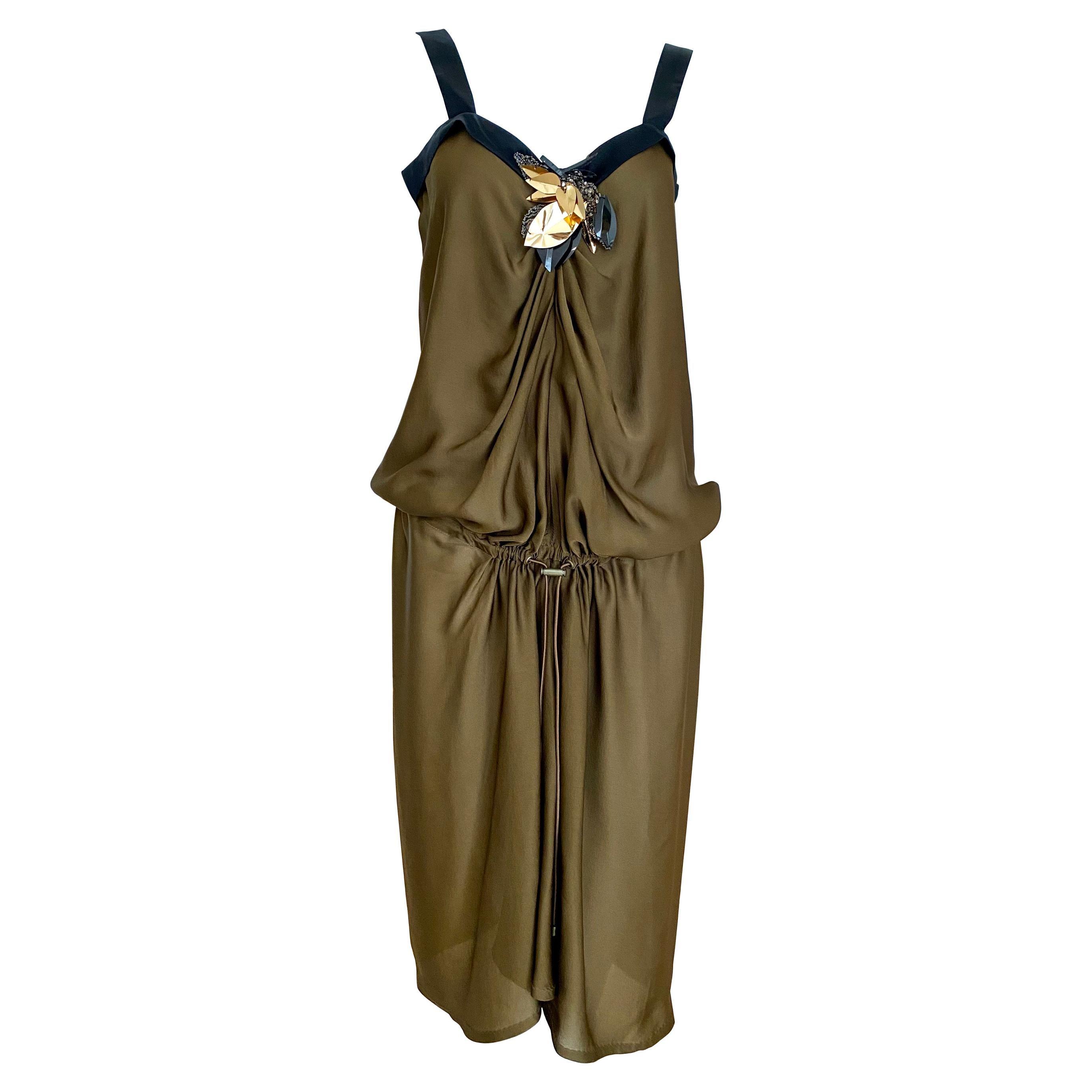 Lanvin by Alber Elbaz Brown Silk Dress