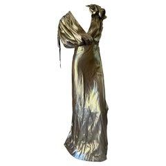 Lanvin by Alber Elbaz Metallic Gold Goddess Dress