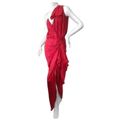 Lanvin by Alber Elbaz Red Revealing Goddess Gown Spring 2010