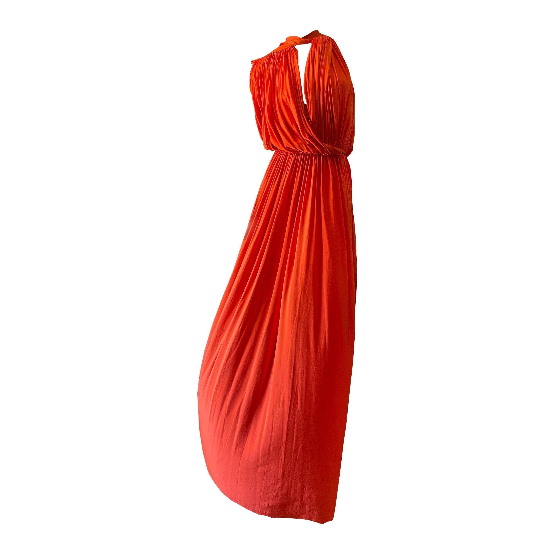 Lanvin by Alber Elbaz Resort 2014 Orange Goddess Gown