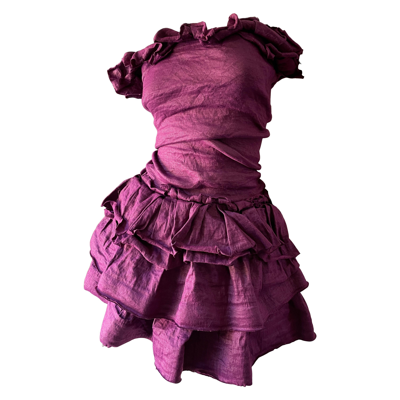 Lanvin by Alber Elbaz Spring 2011 Purple Strapless Ruffled Cocktail Dress