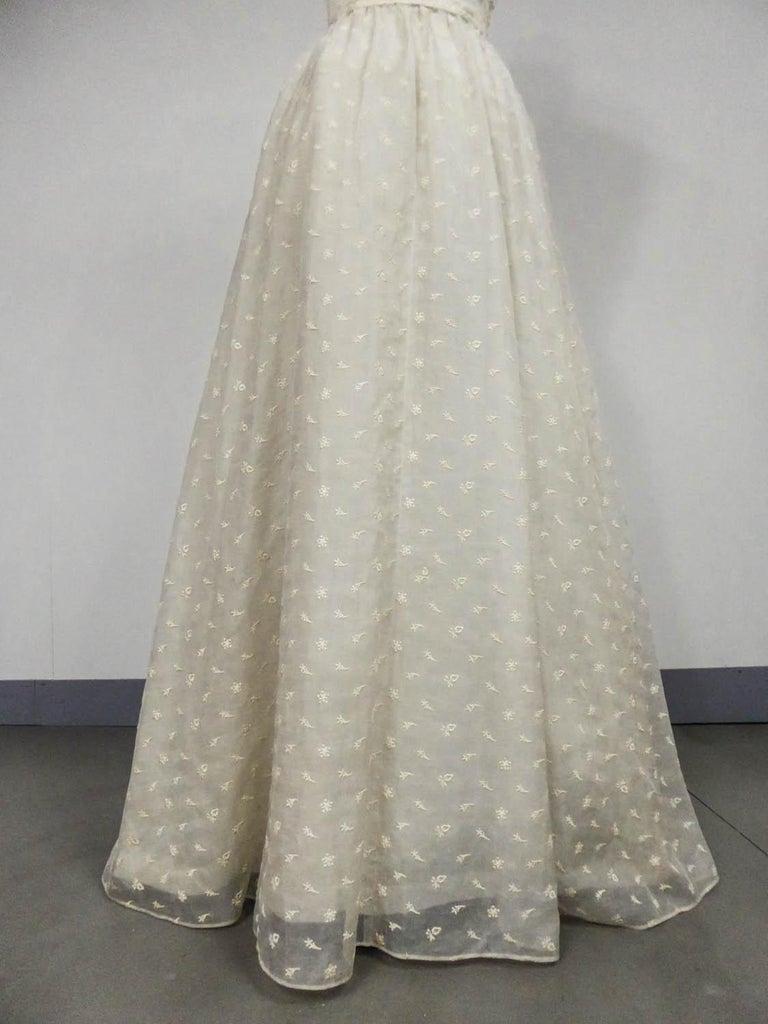 Gray Lanvin CastilloCouture Ball Gown from Baroness de Rothschild circa 1957 For Sale