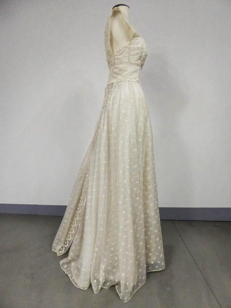 Lanvin CastilloCouture Ball Gown from Baroness de Rothschild circa 1957 For Sale 4