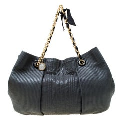 Lanvin Dark Grey Leather Amalia Hobo