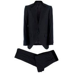 Lanvin Dark Navy Wool Pinstripe Two Piece Suit - Size L