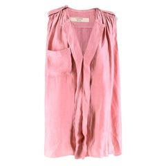 Lanvin Dusty Pink Button-embellished Top 36R