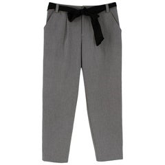 Lanvin en Bleu Grey Cotton Blend Belted Trousers - Size US6