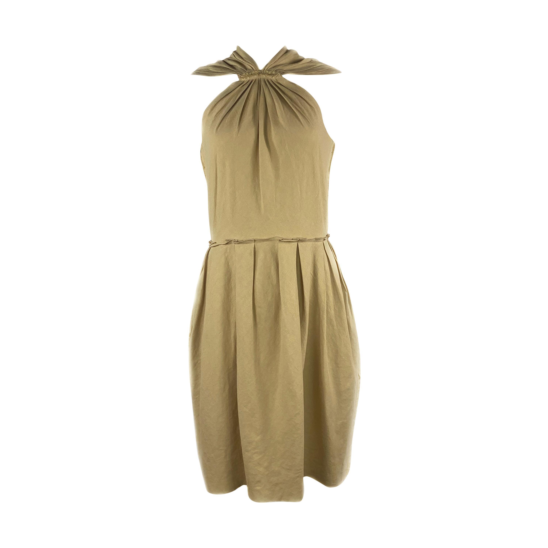 LANVIN Est. 2009 Beige Sleeveless Mini dress w/ Zipper Size 36