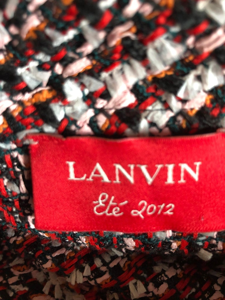 Lanvin Ete 2012 Boucle Tweed Dress by Alber Elbaz 38 Fr 3