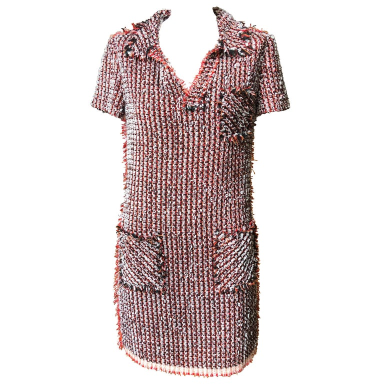 Lanvin Ete 2012 Boucle Tweed Dress by Alber Elbaz 38 Fr