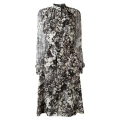 Lanvin Floral-Print Silk-Chiffon Dress