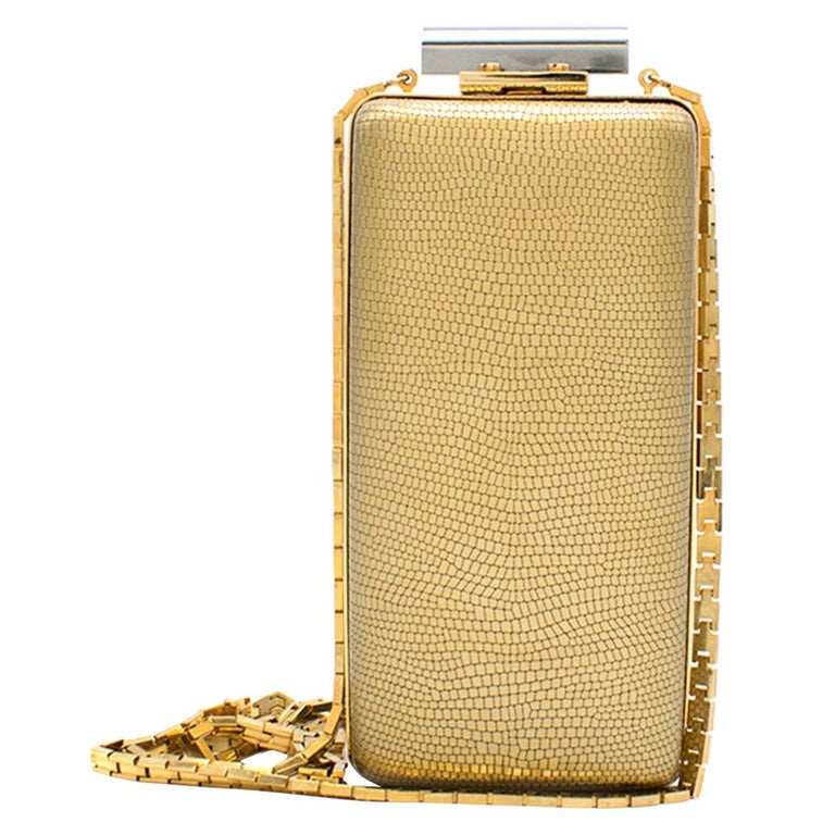 816833cce0 Lanvin Gold and Silver Vertical Minaudiere Clutch Bag For Sale at ...